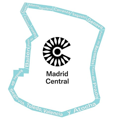 Almendra central Madrid mapa